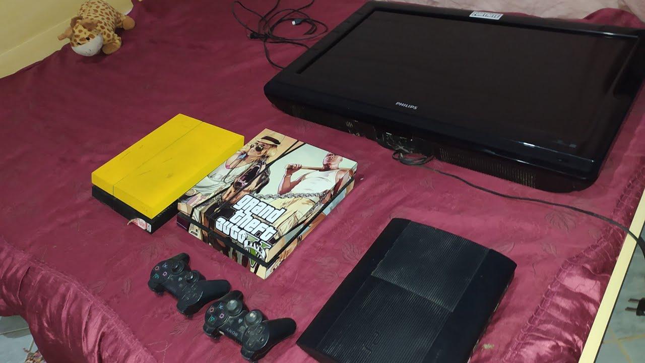 SÓ PREJUÍZO,2 PS4 1 PS3 2 TVS E 2 CONTROLES PS3 ESTRAGADOS,luz vermelha
