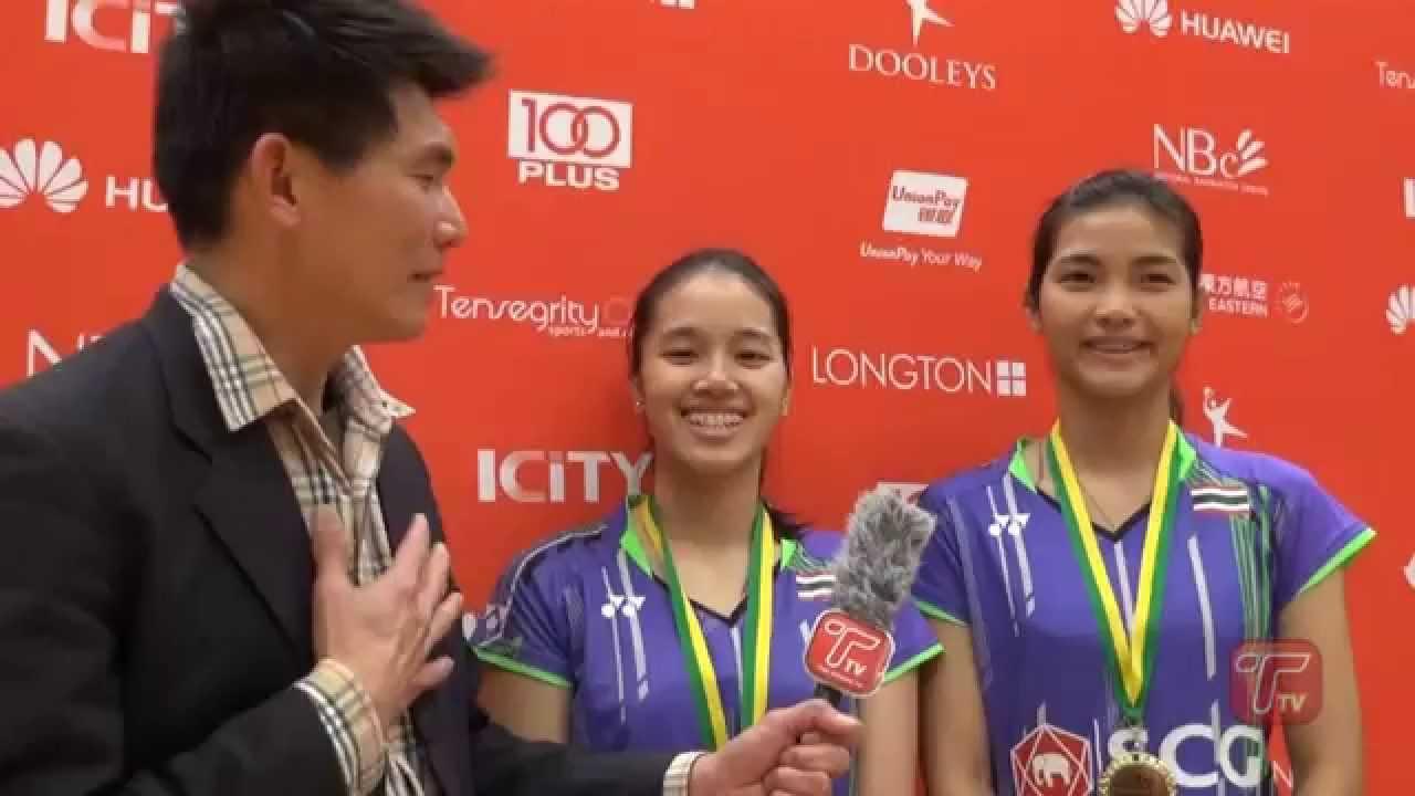 รวินดา& จงกลพรรณ ภญิงคู่ รอบชิงชนะเลิศ Womens Doubles