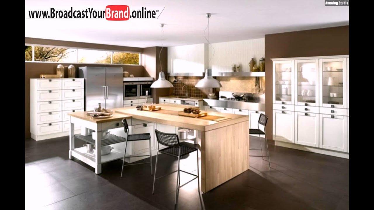 Wohnideen Küche Klassisch Holz Theke Weiße Schränke - YouTube