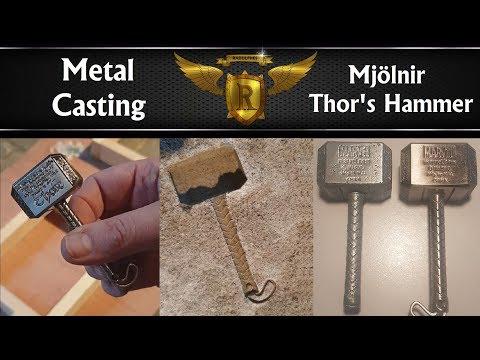 Making a Mini Mjolnir / Thor's Hammer Metal Casting Zinc
