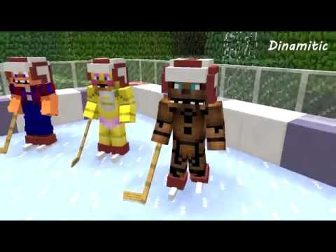 FNAF vs Mobs: Ice Hockey - Monster School (Minecraft Animation)