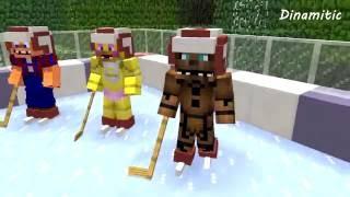 fnaf vs mobs ice hockey challenge monster school five nights at freddy s minecraft animation