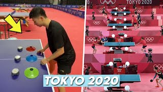 Best of Pro Table Tennis Players Training at Tokyo 2020