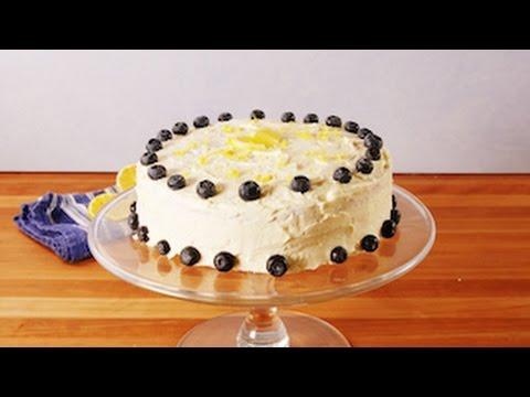 Lemon Blueberry Cake Delish Youtube