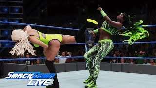 WWE 2K18 Smackdown Live Carmella attacks Naomi: September 18, 2018