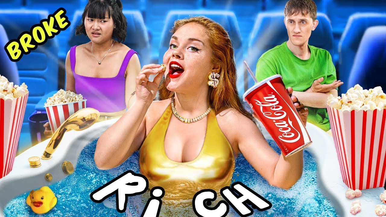 Rich Girl vs Broke Girl / Funny Situations in the Movie Theater