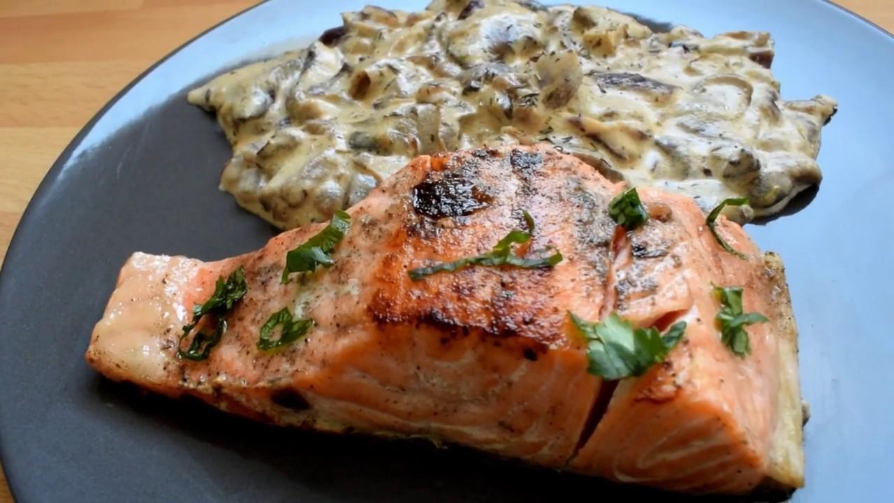 Recette de Pavé de saumon à la crème fraîche et aux ...