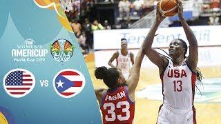 USA v Puerto Rico - Full Semi-Finals Game - FIBA Women's AmeriCup 2019