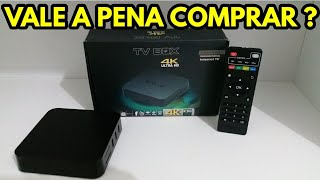 TV POR ASSINATURA NUNCA MAIS! MXQ TV BOX 4K ULTRA HD UNBOXING & REVIW!