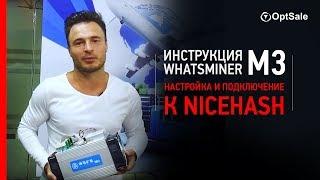Інструкція Асик WhatsMiner M3. Налагодження та підключення до Nicehash