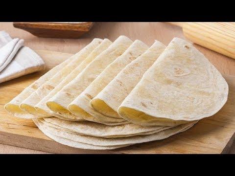 طريقة عمل خبز التورتيلا السوري في المنزل خبز شاورما طريقة مضمونة 100 Bread Youtube