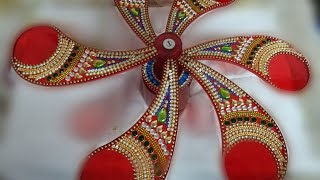 Decorated Fan/DIY Decorated Fan/Easy Idea for Decorating/Fan at home/Maya Creations/Fan/Fan at home