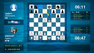 Chess Game Analysis: pianno67 - ha2011 : 1-0 (By ChessFriends.com)