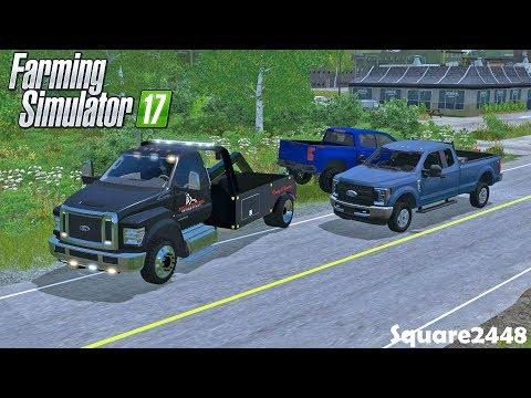 New F750 Wrecker   Repo   2019 Chevy 1500, 2017 F250 &Trailer   Throwback   Farming Simulator 17