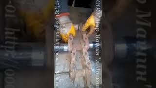 Сборка цепи бульдозера, экскаватора
