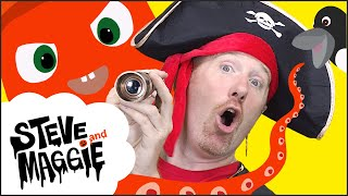 Halloween Pirate Song and Sea Animals Story for Kids from Steve and Maggie | Spooky Wow English TV
