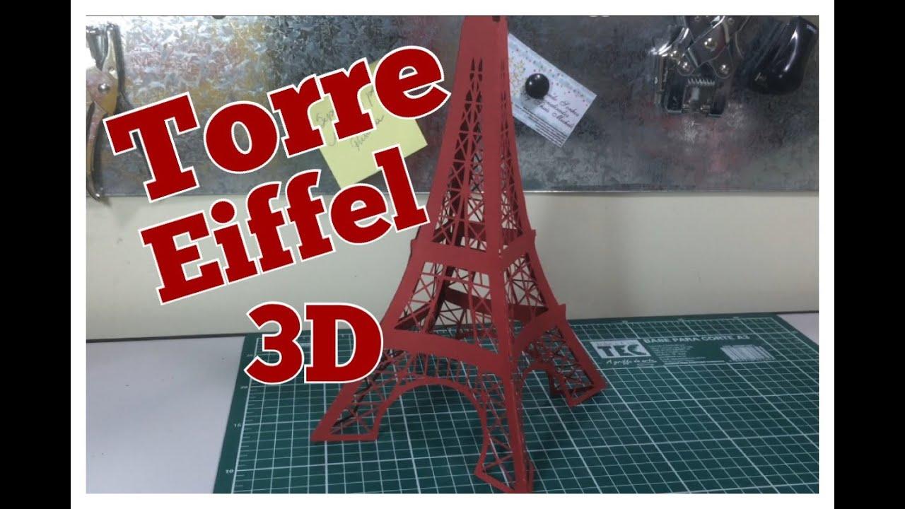 Diy Como Fazer Torre Eiffel Festa Paris Passo A Passo Youtube