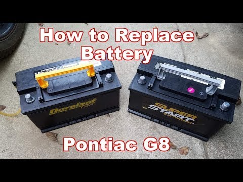 How to Replace Car Battery On Pontiac G8 (Commodore VE/VF Battery Replacement)