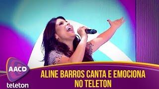 Aline Barros canta sucesso e emociona plateia