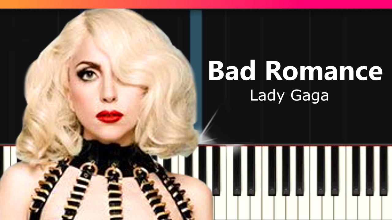 "Lady Gaga - ""Bad Romance"" EASY Piano Tutorial - Chords ..."