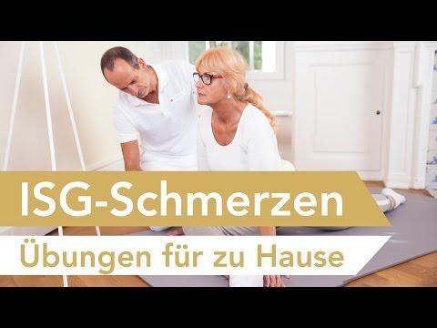 Iliosakralgelenk-Syndrom (ISG Schmerzen) // Übungen zum Mitmachen // ISG Syndrom