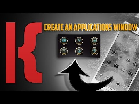 KLWP Tutorial Create An Applications Window