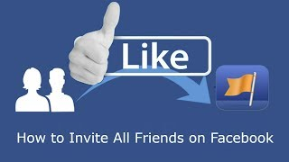 How to Invite All Friends to Like Facebook Page in One Click 2017 Hindi/Urdu