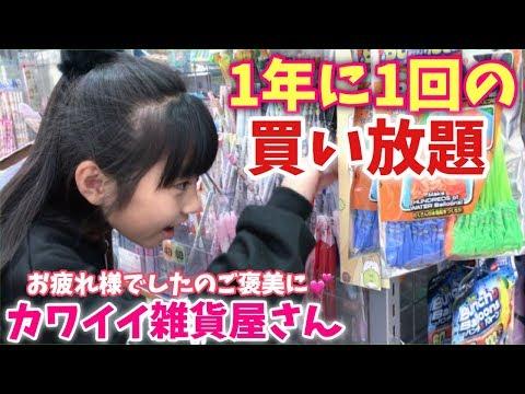 【年に一度の贅沢】雑貨屋さんで好きなだけ買っていいよ♪!金額はいくらに!!