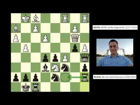 Twin Ports Open [Round 3]: WGM Camilla Baginskaite vs. IM Bartholomew