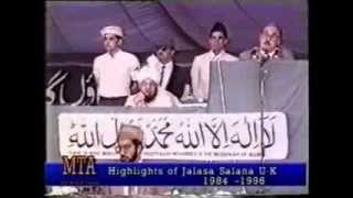 From the Speech by Tom Cox, MP at Jalsa Salana 1987
