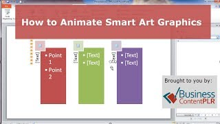 How to Animate Smart Art Graphics in PowerPoint