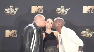 Vin Diesel, Jordana Brewster, Tyrese Gibson @ MTV Movie Awards 2017
