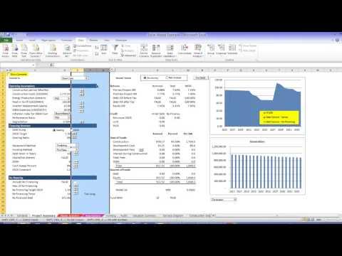 Solar Project Finance Model