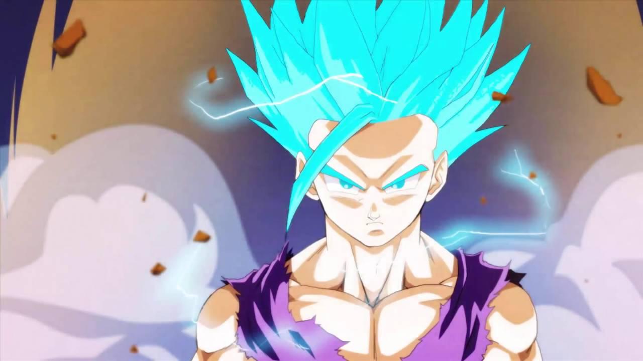 Sangohan ado transformation en ssj blue youtube - Sangohan ado super sayen 3 ...