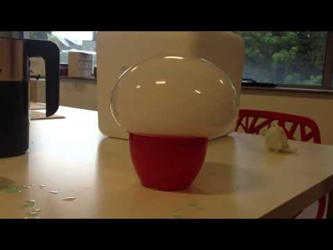 dry ice mushroom cloud bursting