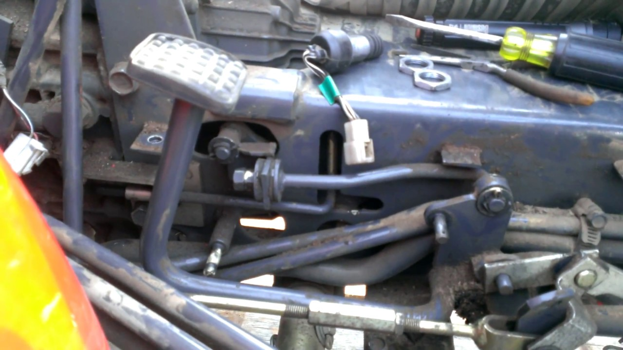 medium resolution of kubota hst b series pedal return problem