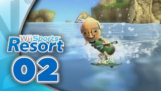Wii Sports Resort: Part 02 | Wakeboarding (4-Player)