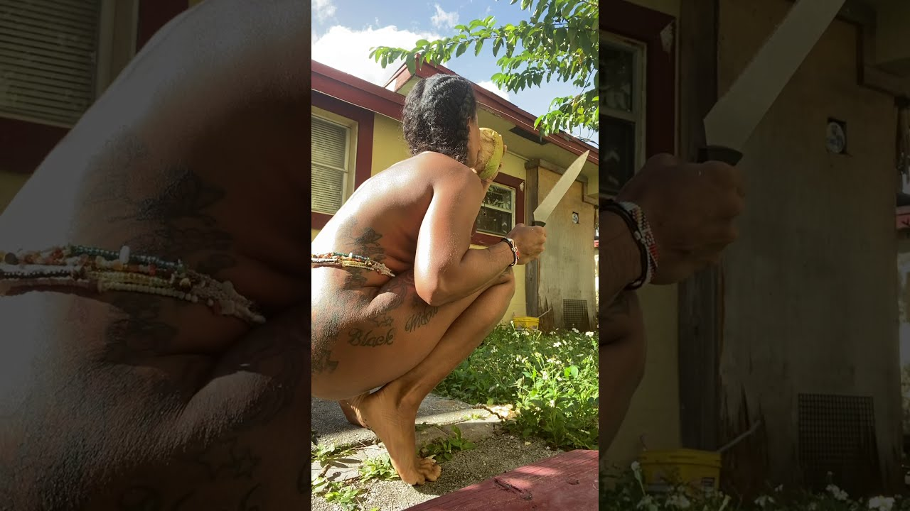 Coconut lover mood while nude!!!!!