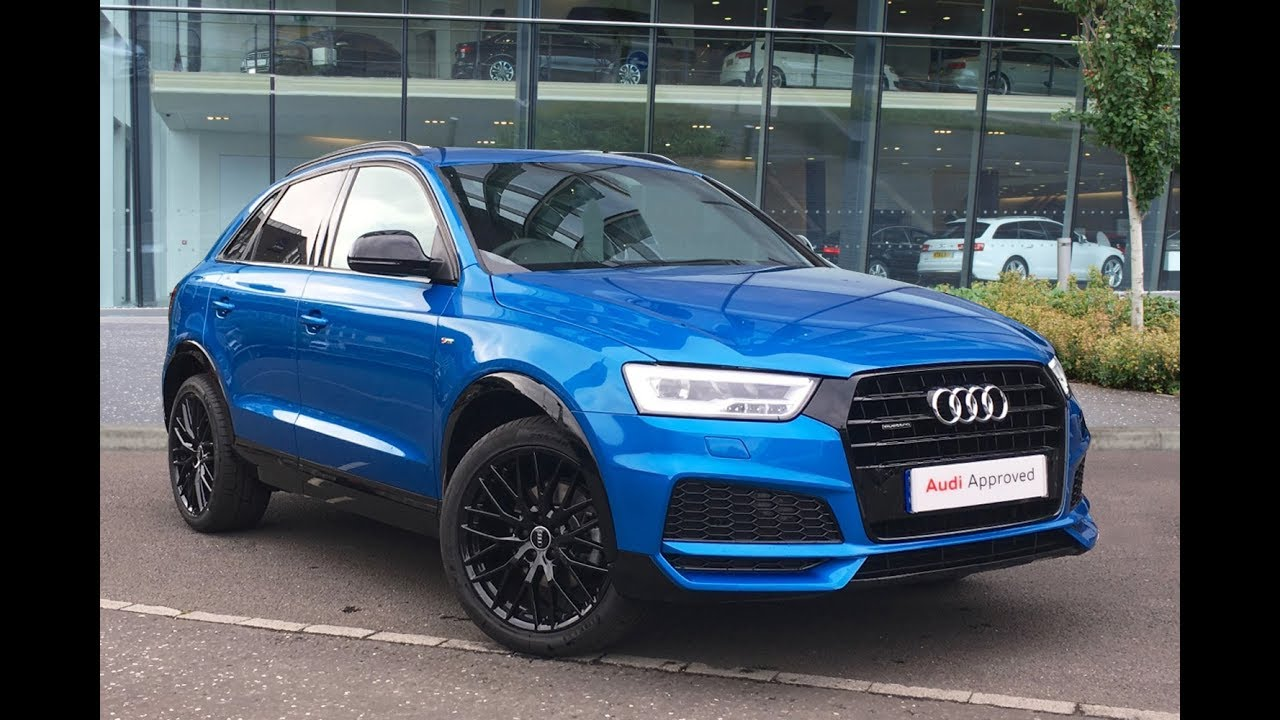 Audi Q3 S Line Edition >> KM66YKT AUDI Q3 TDI QUATTRO S LINE BLACK EDITION BLUE 2016, West London Audi - YouTube