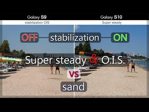 Samsung Galaxy S10 vs S9 Stabilization Comparison on sand