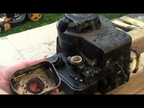 Repeat Briggs and Stratton lawnmower carburetor repair for surging