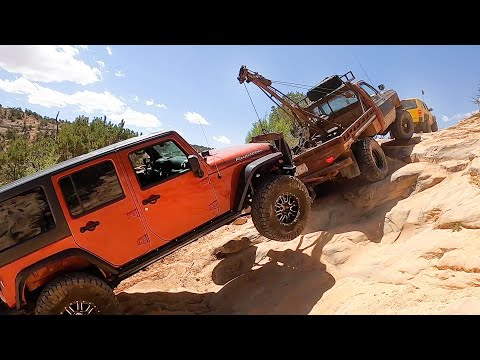 Are We Really Going To Pull This Dead Jeep Up There?!