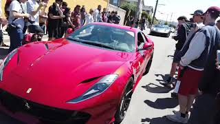 Lamborghini's And Ferrari's Flex Their Exhaust At Car Show