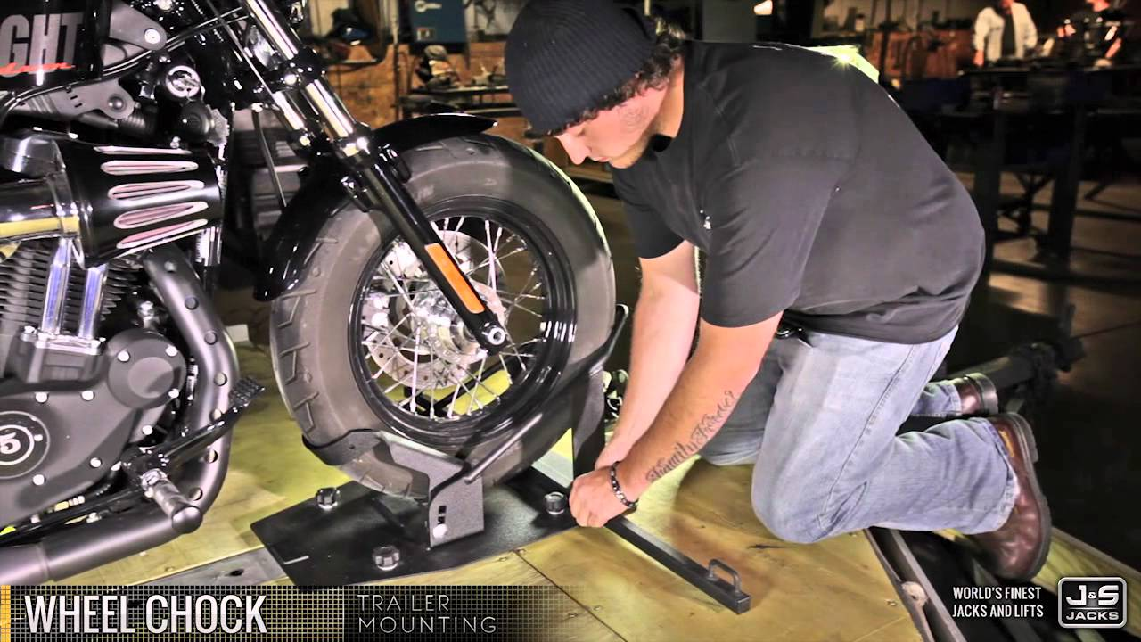 Motorcycle Wheel Chock J Amp S Jacks Demonstration Youtube