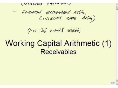 ACCA F9 Revision Working Capital, Receivables