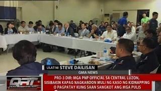 Mga PNP sa Central Luzon, sisibakin kapag nagkaroon muli ng kidnapping na sangkot ang mga pulis