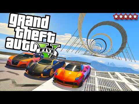 TRY NOT TO THROW UP!! - LONGEST SPIRAL EVER!! GTA V Online (Funny Moments & FAILS)