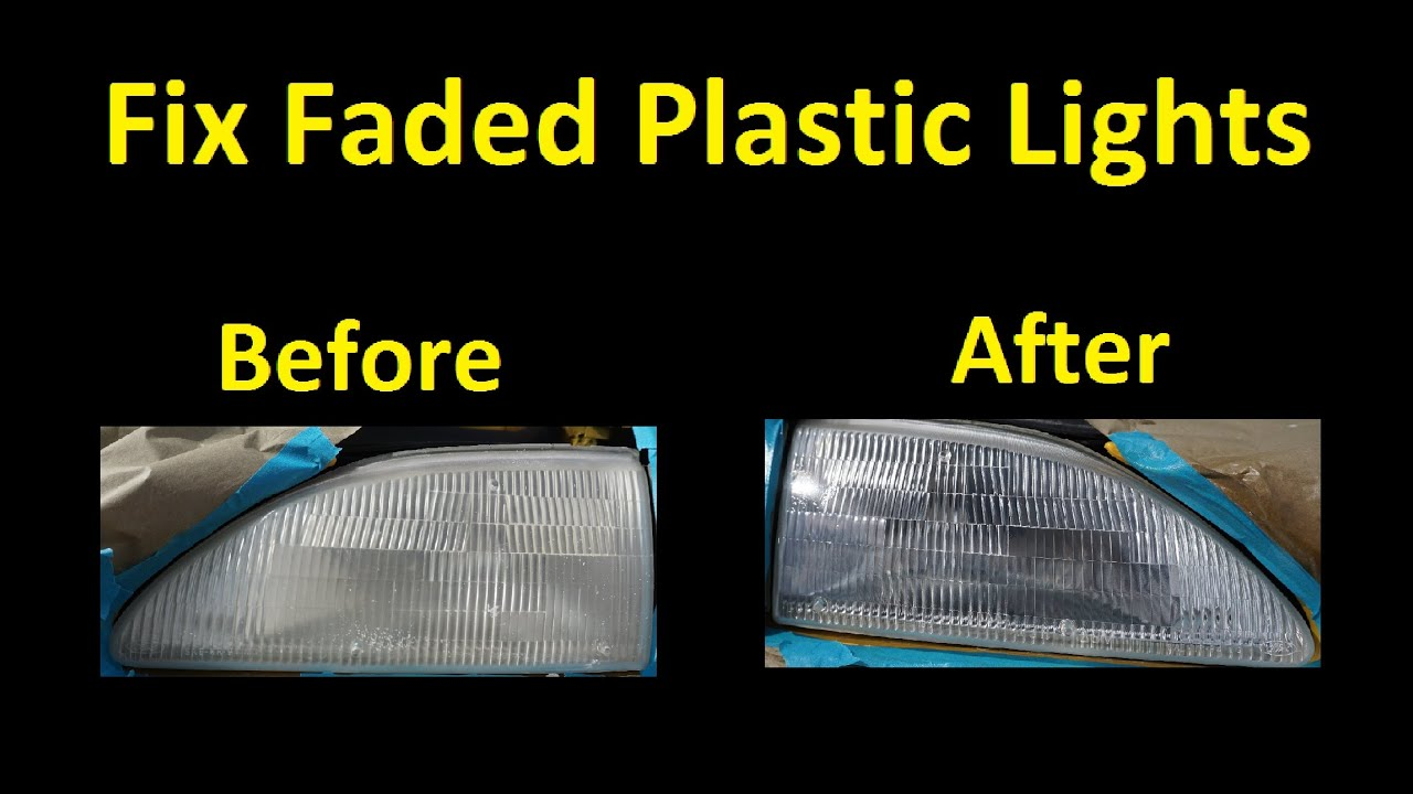 Restore Plastic Headlights Car Lenses How To Restore Faded Lights Tutorial Youtube