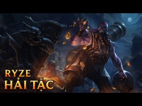Ryze Hải Tặc - Pirate Ryze - Skins lol