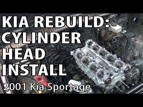 Kia Sportage Rebuild: Cylinder Head Install & Timing Procedure DIY